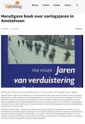 2016-AmstelveenVandaag.nl: wethouder Herbert Raat over Tiny Visser