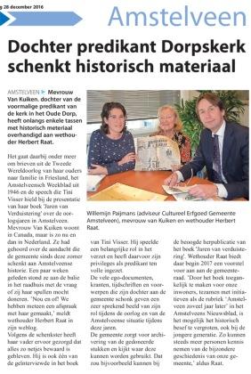 2016-28-12 Amstelveens Nieuwsblad-Tiny Visser Herbert Raat mevrouw van Kuiken Willemijn Paijmans