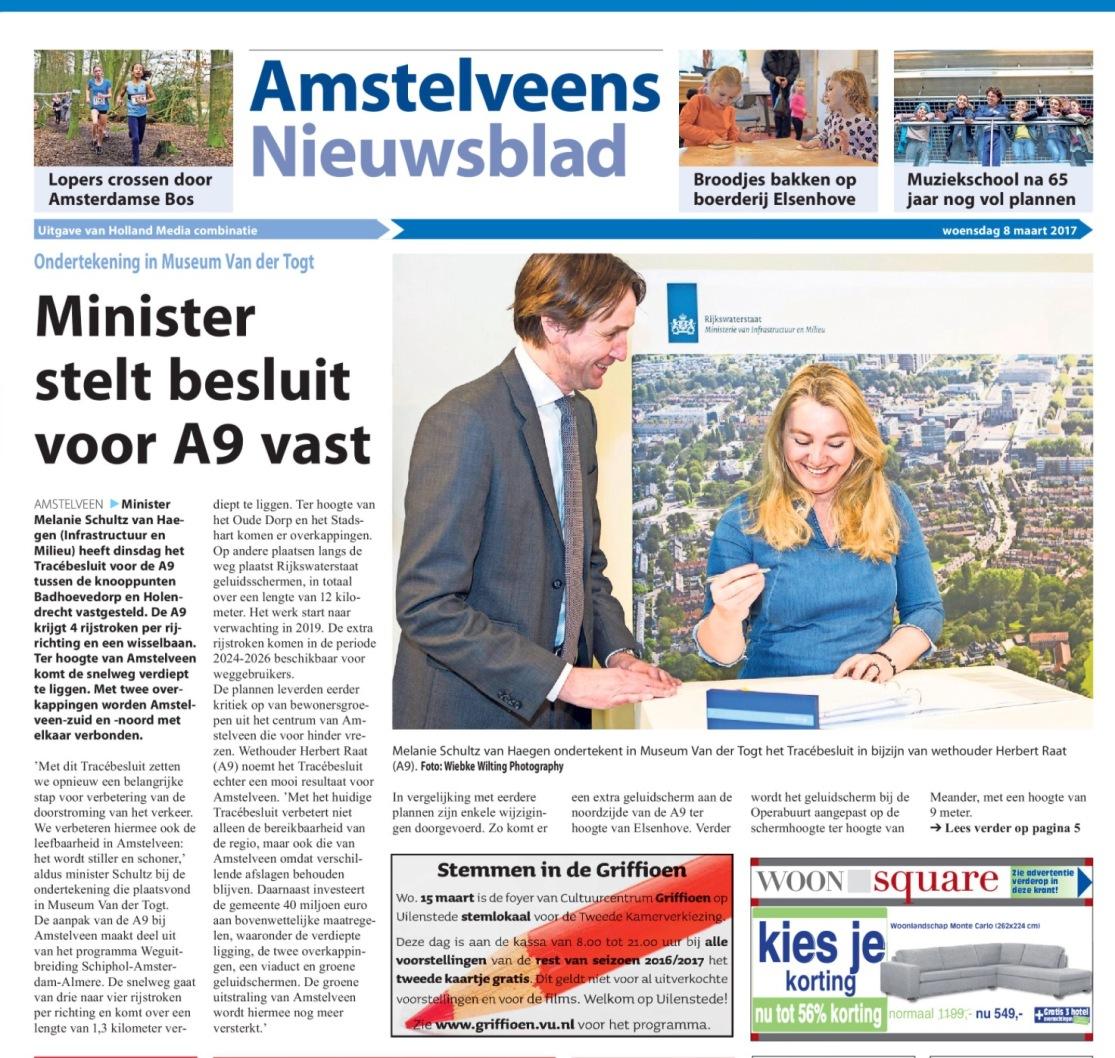 2017-8-3 Amstelveens Nieuwsblad A9 Melanie Schultz Herbert Raat