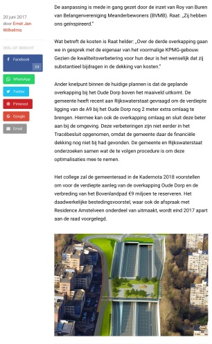 2017-20-6 RTV Amstelveen over extra overkapping bij Meander A9 Amstelveen 2 van 2