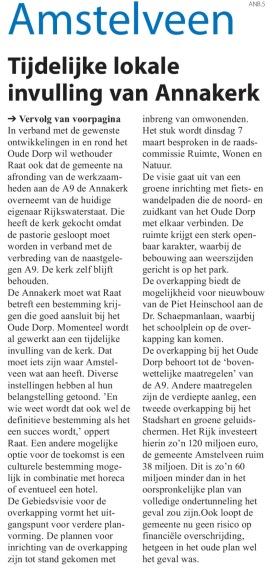 2017-22-2 Amstelveens Nieuwsblad overkapping A9 Oude Dorp