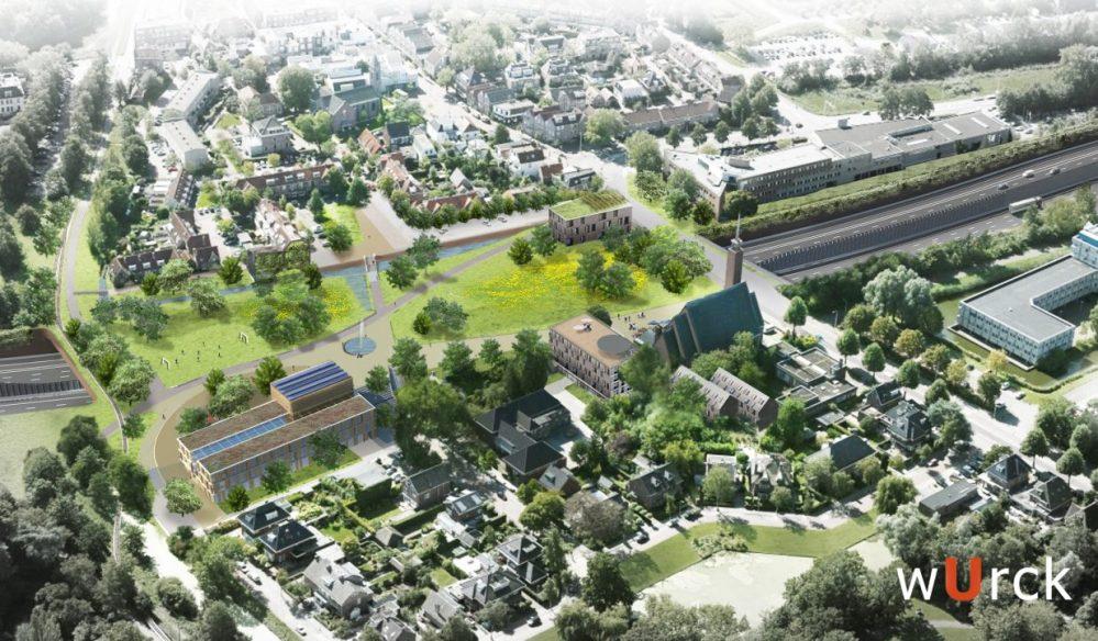 vogelvlucht-gebiedsvisie-overkapping-a9-oude-dorp-Amstelveen vanuit-noordelijke-richting