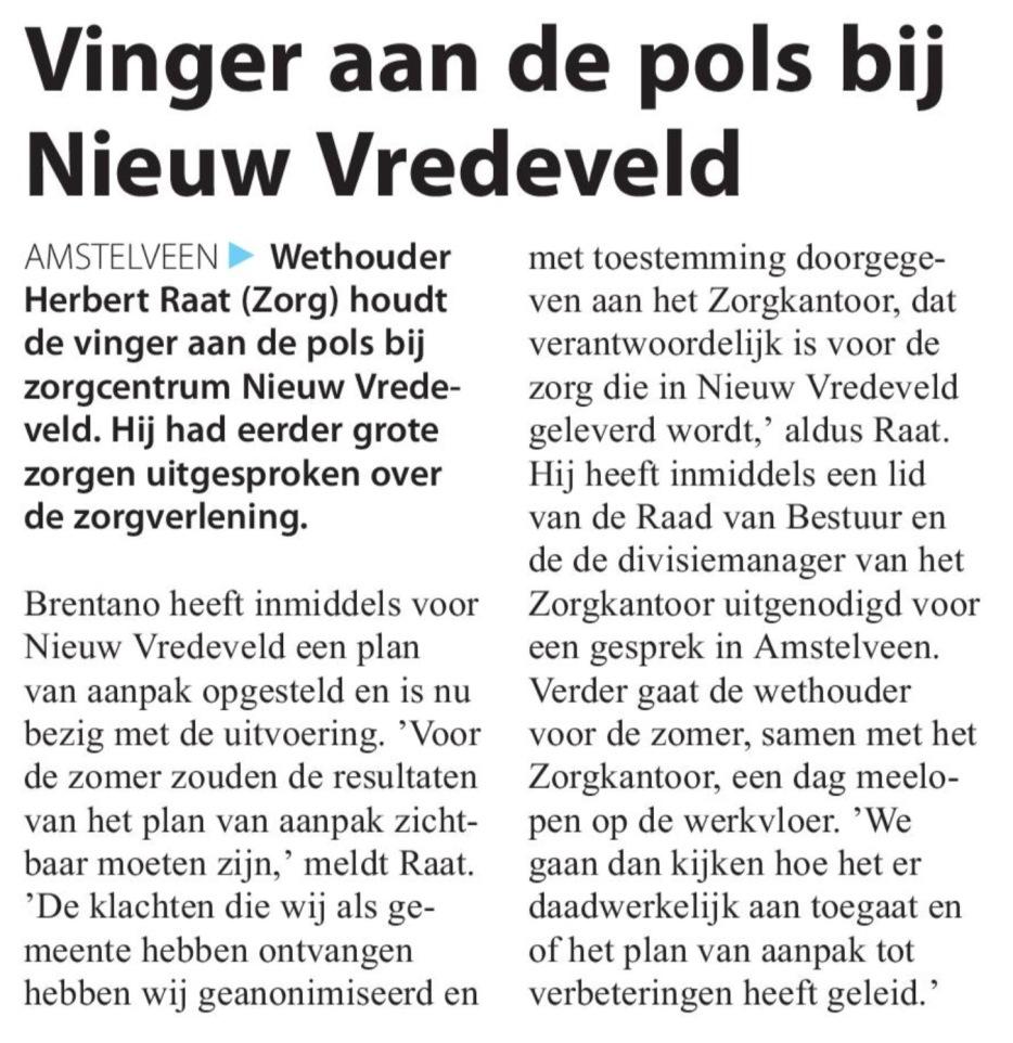 2017-10-5 Amstelveens Nieuwsblad over situatie Nieuw Vredeveld