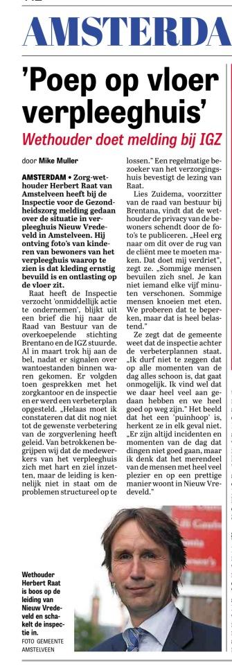2017-4-7 Telegraaf over Nieuw Vredeveld