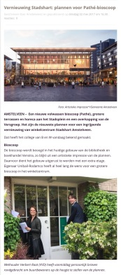 2017 2 5 AmstelveenZ; wethouder Herbert Raat over plannen Stahshart 1 van 2