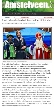 2017-24-5 Amstelveenblog.nl: Herbert Raat over sinterklaas 1 van 2