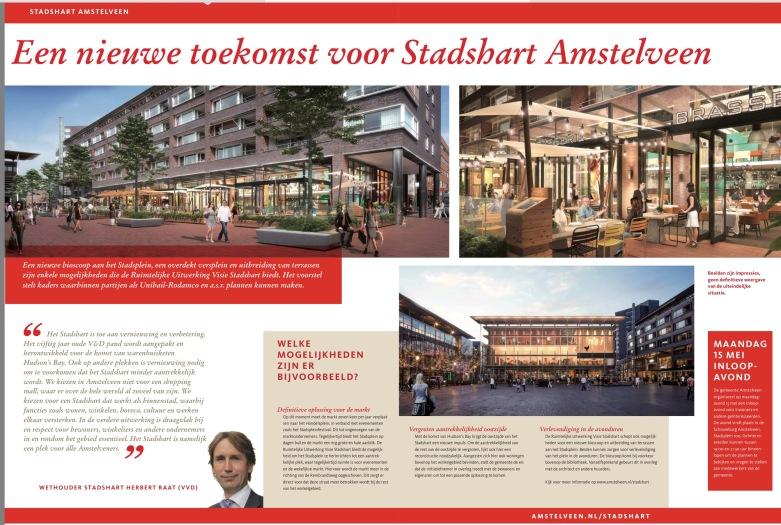 2017-10-5 Themapagina; Herbert Raat over Stadshart Amstelveen