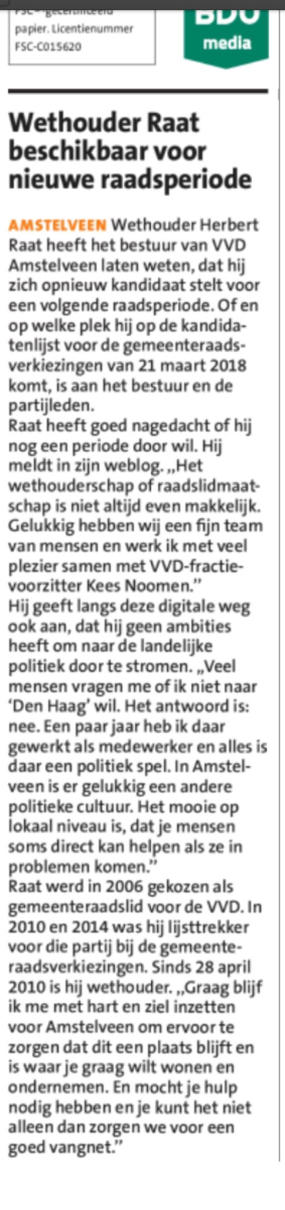 2017-5-7 Amstelveeens Nieuwsblad