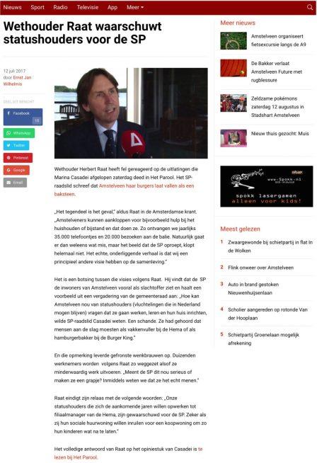 2017-12-7 RTV Amstelveen; Herbert Raat over WMO