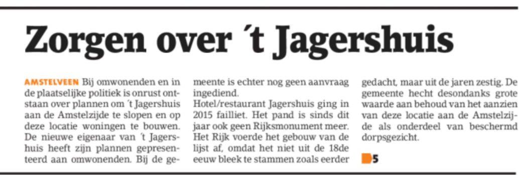 2017-9-8 Amstelveens Nieuwsblad Jagerhuis 1 van 2