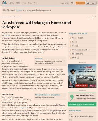 2017 23-8 FD; Herbert Raat over Amstelveen en Eneco