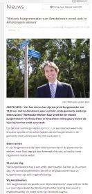 2017-14-8 Amstelveenz; Herbert Raat over woonplaats burgemeester