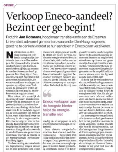2017-26-8 AD Haagse Courant artikel van Professor Jan Rotmans