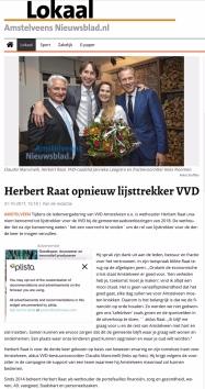 2017-1-11 Amstelveens Nieuwsblad site: Herbert Raat lijsttrekker VVD Amstelveen 2018