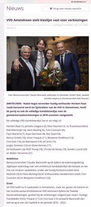 2017-26-11 Amstelveenz Kandidatenlijst VVD