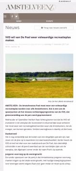2017-11-11 Amstelveenz; Herbert Raat over verkiezingsprogramma VVd Amstelveen