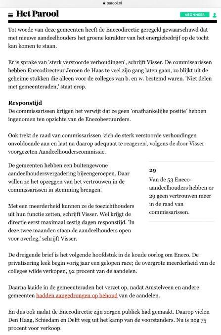 2018-11-1 Het Parool-Bart van Zoelen-Eneco 2 van 3
