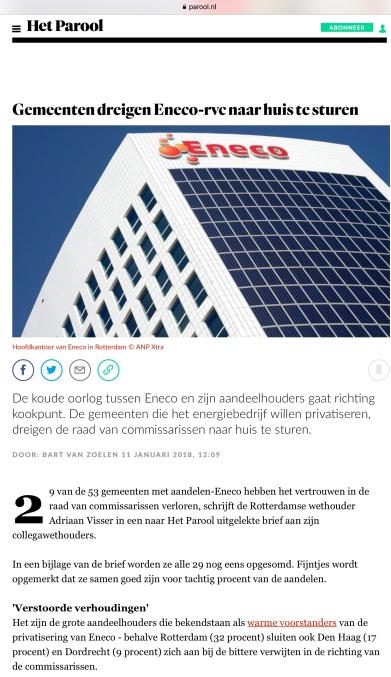 2018-11-1 Het Parool-Bart van Zoelen-Eneco 1 van 3