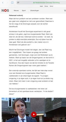 2018-3-8 Nieuwsuur: loco-burgemeester Herbert Raat over rookverbod Amstelveen 1 van 2