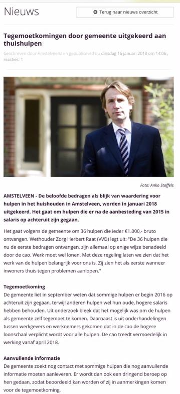 2018-17-1 AmstelveenZ: wethouder Herbert Raat over extra geld voor hulp bij huishouden