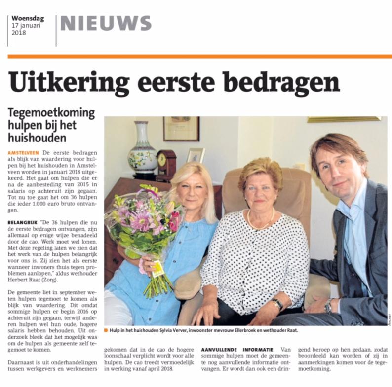 2018-17-1 Amstelveens Nieuwsblad; wethouder Herbert Raat over hulp bij huishouden