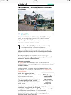 2018-22-1Het Parool site over Het Jagershuis
