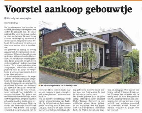 2018-24-1 Amstelveens Nieuwsblad over aankoop Randwijcklaan 13