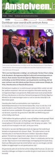 2018-4-2 Amstelveenblog.nl over Annakerk