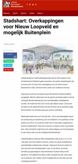 2018- RTV A over Stadshart Amstelveen