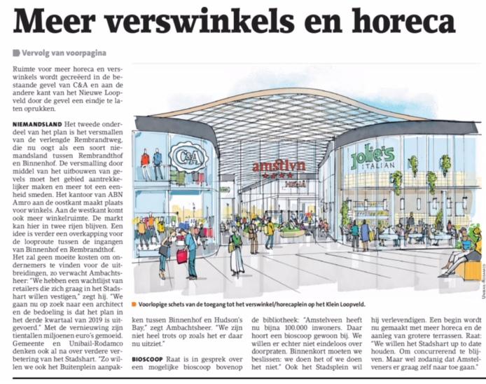 2018-14-2 Amstelveens Nieuwsblad over Stadshart Amstelveen pagina 2 van 2