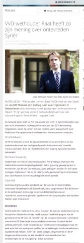 2018-20-2; Amstelveenz; wethouder Herbert Raat over ontevreden Syriër; niemand dwingt je hier te blijven.