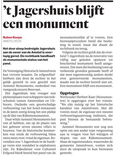 2018-11-8 Het Parool-journalist Ruben Koops over 't Jagershuis