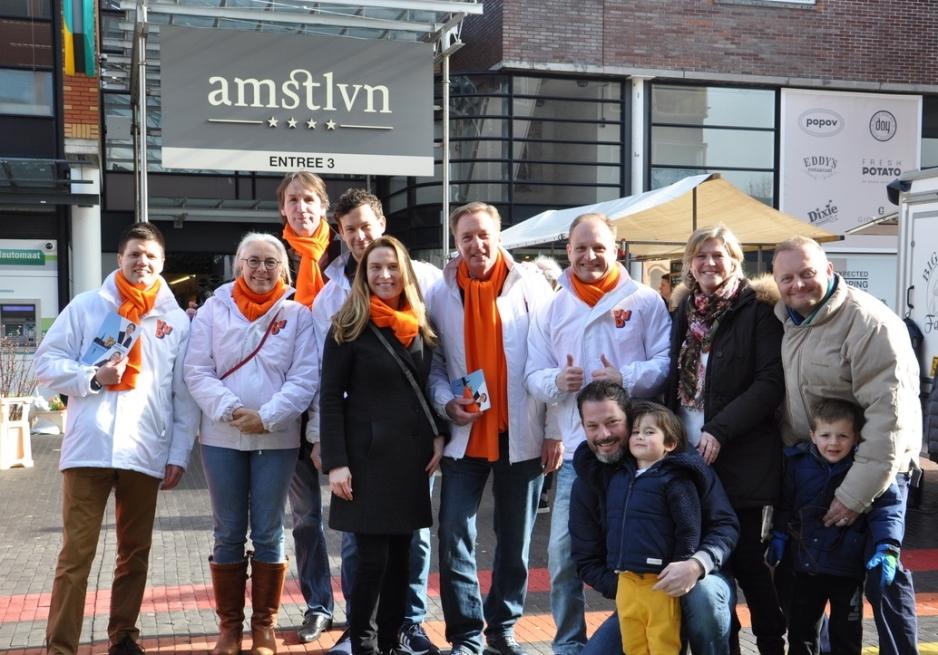 2018 VVD team Amstelveen: Arjan Gerritsen, Jet Smit, Herbert Raat, Benjamin Smalhout, Janneke Leegstra, Rob Ellermeijer, Jurgen Sommer, Hanny Guit.