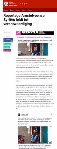 2018-20-2-RTVA; VVD-wethouder Herbert Raat over ontevreden Syriër in Amstelveen
