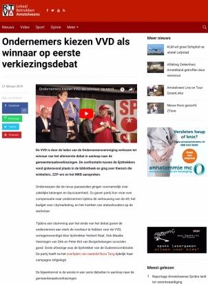 2018-21-2 RTVA- Herbert Raat VVD winnaar ondernemers debat