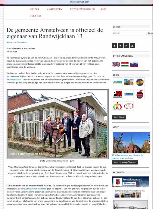 2018-5-3 Amstelveenweb.com aankoop kleine sjoel