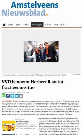 2018-23-3 Amstelveens Nieuwsblad-Herbert Raat fractievoorzitter VVD