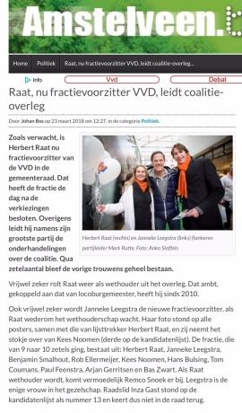 2018-23-3 Amstelveen.blog.nl: Herbert Raat fractievoorzitter VVD