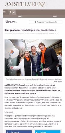 2018-23-3 AmstelveenZ: Herbert Raat unaniem gekozen tot fractievoorzitter VVD