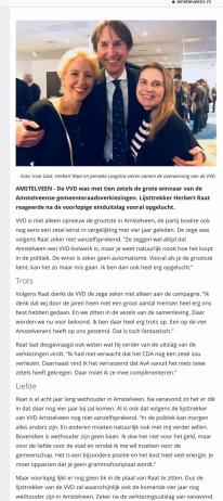 2018 Amstelveenz; Herbert Raat over de verkiezingsuitslag in Amstelveen