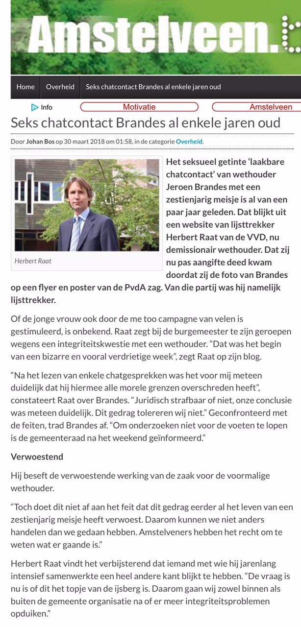 2018-Amstelveenblog.nl; Herbert raat over vertrek Jeroen Brandes