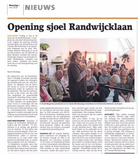 2018-9-5 Amstelveens Nieuwsblad over open Joodse huizen Amstelveen Randwijcklaan 13