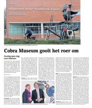 2018-7-11 Amstelveens Nieuwsblad interview Stefan van Raay en Herbert Raat over toekomst Cobramuseum