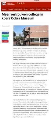 2018-25-9 RtvA over nieuw elan Cobra museum