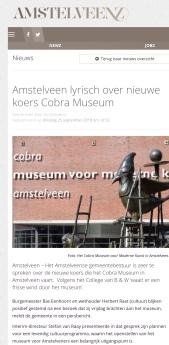 2018-25-9-AmstelveenZ; Wethouder Herbert Raat over nieuw elan Cobra 1 van 2