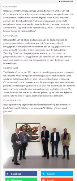 2018-25-9-AmstelveenZ; wethouder Herbert Raat over nieuw elan Cobra 2 van 2