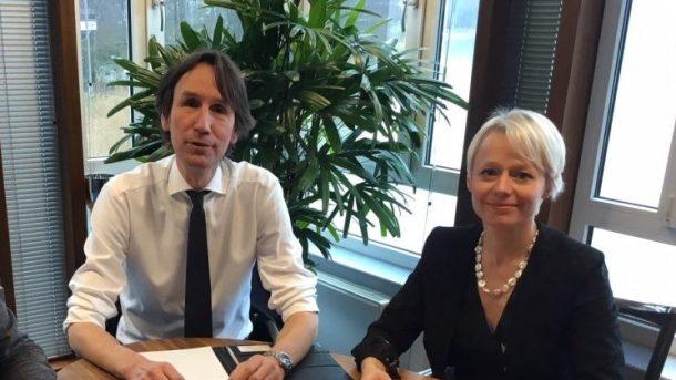 2018-Raadsgriffier Marnix Philips, Factievoorzitter VVD Herbert Raat en Fractievoorzitter D66 Floortje Gordon