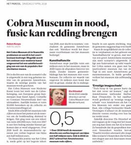 2018-17-2 Het Parool pver Het Cobra museum