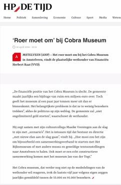 2018-HP de Tijd; Herbert Raat over Cobra
