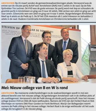 2018-26-12 Amstelveens Nieuwsblad terugblik 2018 VVD de grootste partij in Amstelveen